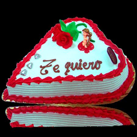 Nata rayada - Tartas San Valentín Panadería del Rosal Almería